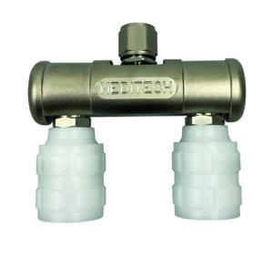 straight bar, 2 BS Schrader gas specific adaptor