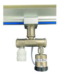 straight bar, single flow selector, single schrader, rail mounted