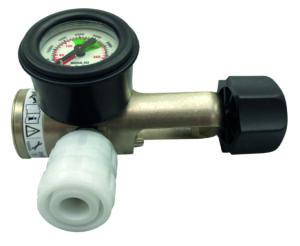 Oxygen reg, pin index, 1 x BS Schrader