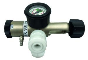 Oxygen reg, pin index, 2 x BS Schrader