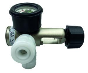 Oxygen reg, pin inlet, 2x BS Schrader